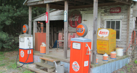 We restore antique gas pumps and service station equipment.